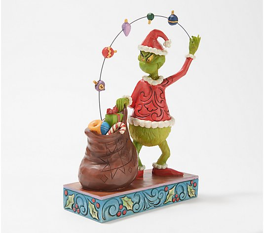 Jim Shore Heartwood Creek Grinch Figurine Juggling Gifts And Ornaments Qvc Com