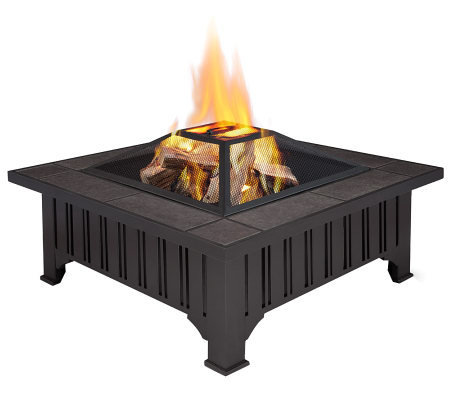 Real Flame Lafayette Wood-Burning Fire Pit
