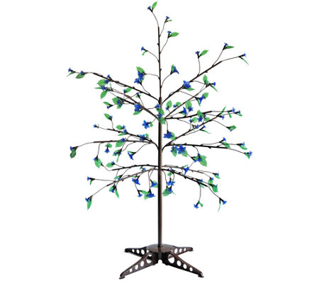 Exhart Anywhere LED Tree - 75 LEDs with Leaves