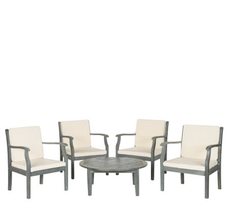 Safavieh Colfax 5-Piece Outdoor Coffee Set