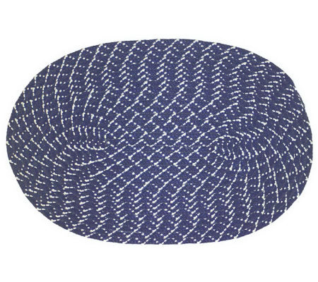 SunSplash Oval Braided 8'x11' Indoor / OutdoorRug