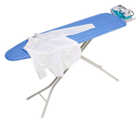 Honey-Can-Do Quad-Leg Ironing Board with Ironing Rest & Cover