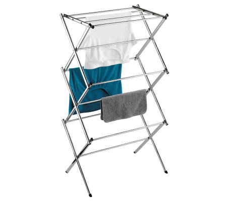 Honey-Can-Do Slim Chrome Commercial Drying Rack