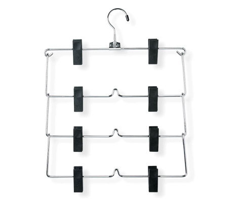 Honey-Can-Do Set of 2 Four-Tier Fold-Up Skirt/Pant Hangers