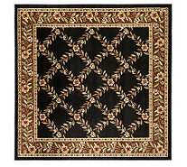 "Lyndhurst Open Floral Power Loomed 6'7"" X 6'7""Square Rug - H356850"