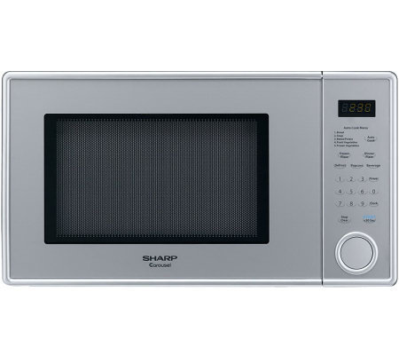 Sharp Mid-Size 1.1 Cu. Ft. 1000W Microwave Oven- Pearl Silver