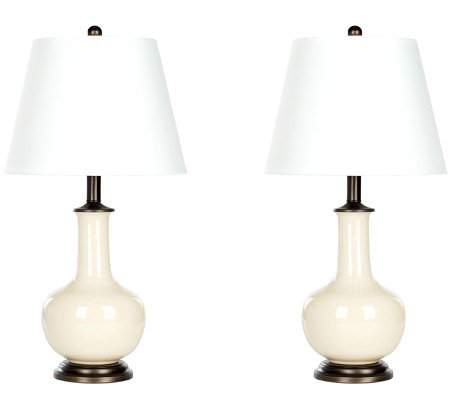 Safavieh Porcelain Cream Table Lamps