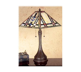 "Meyda Tiffany Mission Style Table Lamp - 22"" Tall - H69550"