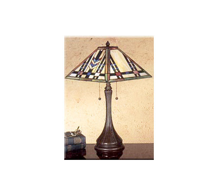 "Meyda Tiffany Mission Style Table Lamp - 22"" Tall"