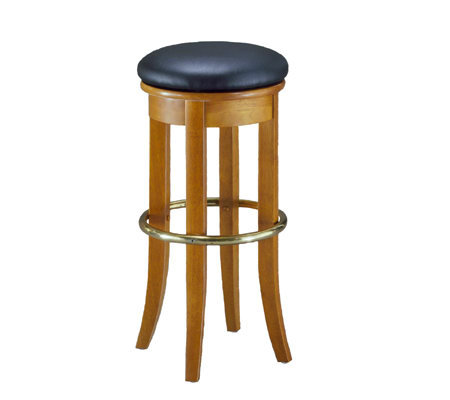 Home Styles Oak Bar Stool W Shiny Brass Foot Rail Qvc Com