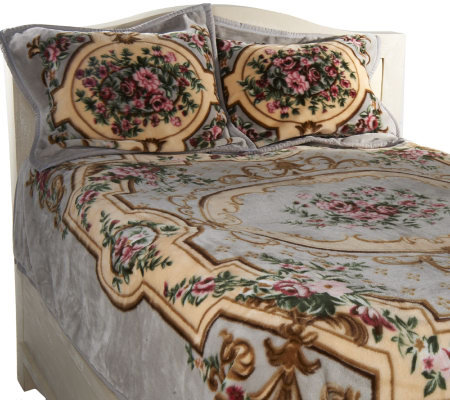 Aubusson Plush 3-piece Coverlet and Sham Set