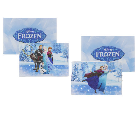 "Set of 2 Frozen 4""x6"" Musical Illuminart with Gift Boxes"
