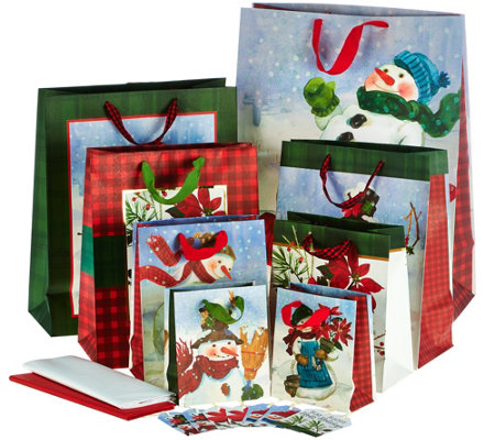 Hallmark 36 Piece Gift Wrap Set with Storage Box