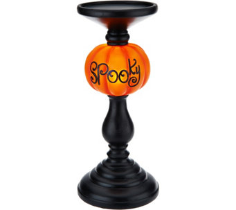 "11"" Illuminated ""SPOOKY"" Candlestick - H208851"