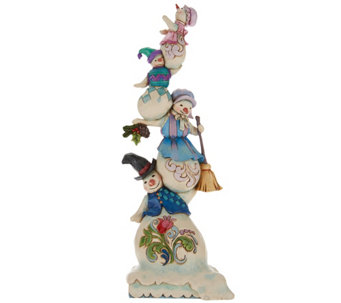 Jim Shore Snowmen_Family of Flakes Stacked Figurines - H209651