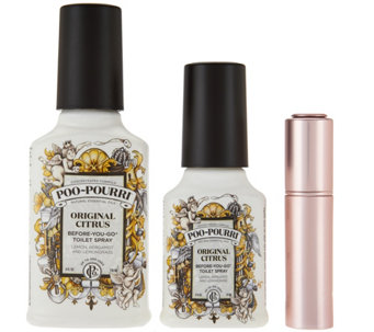 Poo-Pourri Choice of 4 oz Scent with 2 oz Original and Glitzy Spritz - H209751