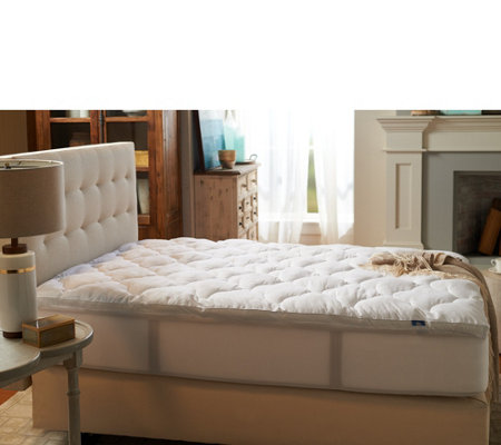 serta twin xl fiber fill mattress topper w stain repellency
