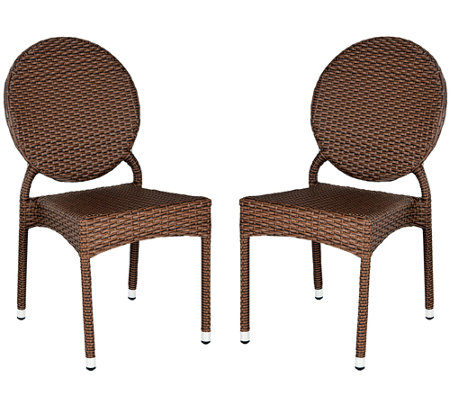 Safavieh Valdez Set of 2 Indoor/Outdoor Stacking Side Chairs