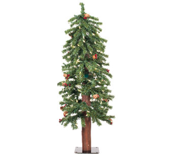 3' Prelit Frosted Alpine Berry Tree by Vickerman - H286651