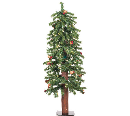 3' Prelit Frosted Alpine Berry Tree by Vickerman