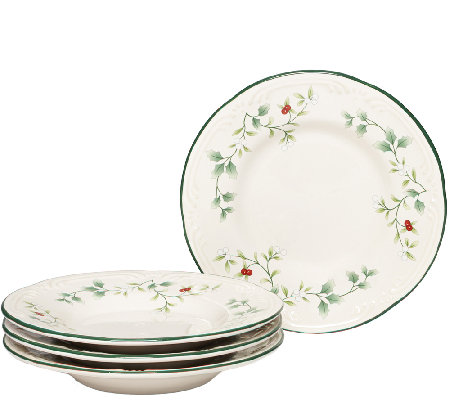 Pfaltzgraff Winterberry Appetizer Plates, Set of 4