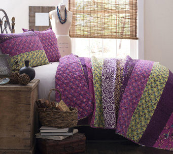 Royal Empire 3-Piece Plum Full/Queen Quilt Set by Lush Decor - H287251