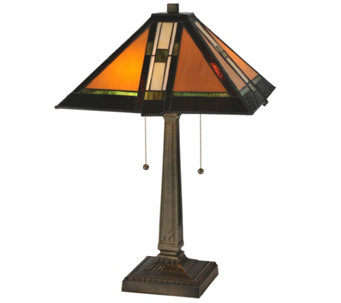 "Meyda Tiffany-Style 22""H Montana Mission TableLamp - H288151"