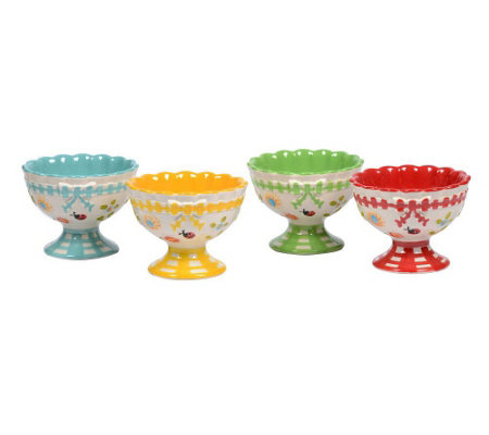 Temp-tations Gingham Garden Set of 4 Ice CreamParfait Cups