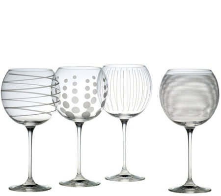 Mikasa Cheers Set of 4 Balloon Goblets
