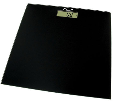 Escali Glass Platform Bathroom Digital Scale 400 lb - Square
