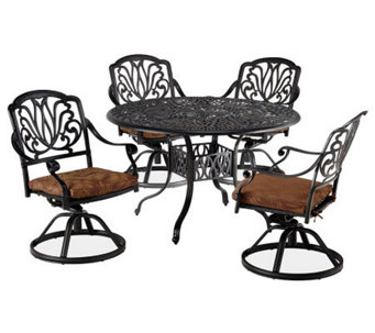 "Home Styles Floral Blossom 5-pc 48"" Dining Setw/Swivel Chairs - H367851"
