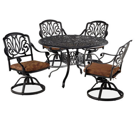 "Home Styles Floral Blossom 5-pc 48"" Dining Setw/Swivel Chairs"