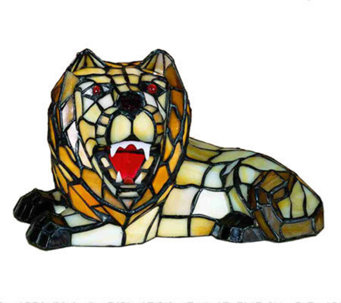 "Tiffany Style 7""H Lion Accent Lamp - H181352"