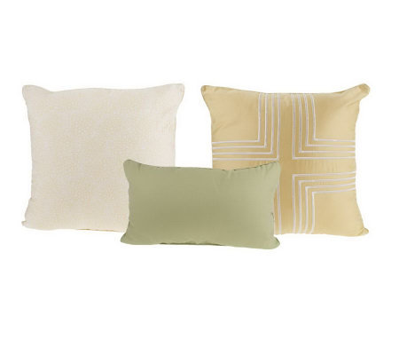 Thom Filicia Set of Three Full Bloom Decorative Pillows