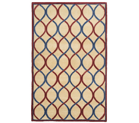 Royal Palace Trellis 5' x 8' Handmade Wool Rug