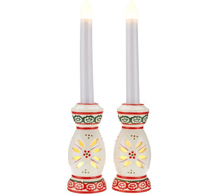 Temp-tations Set of (2) Taper Flameless Candles