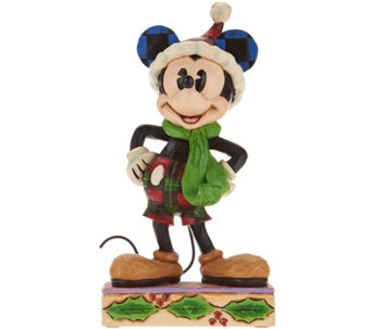 Jim Shore Disney Traditions Christmas Mickey Figurine - H209652