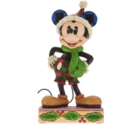 Jim Shore Disney Traditions Christmas Mickey Figurine