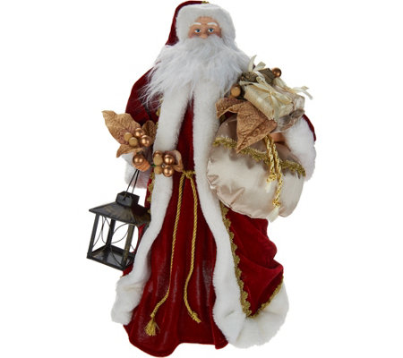 silent lights santa tree topper with moving laser projections - Santa Christmas Tree Topper