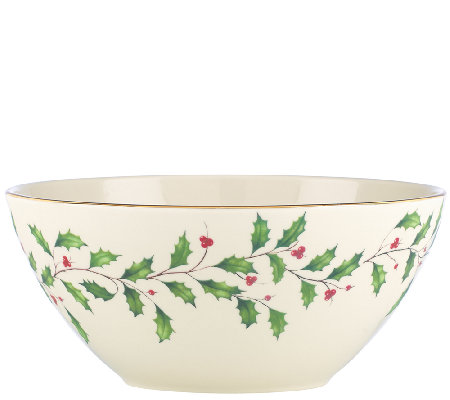 "Lenox Holiday 7"" Serving Bowl"