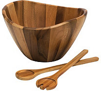 Lipper Acacia Salad Set with Servers - H292452