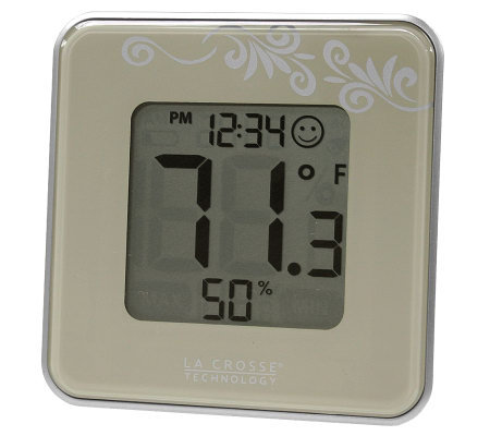 La Crosse Technology 302-604B Silver Thermometer & Hygrometer