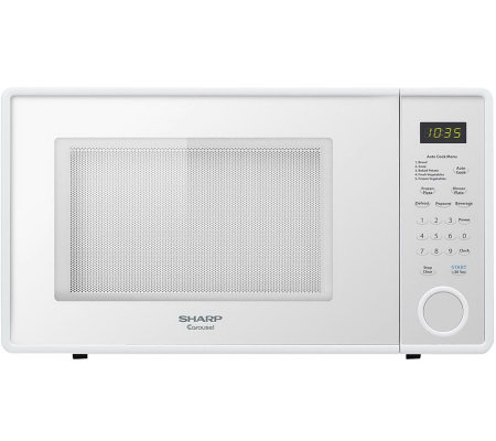Sharp Mid-Size 1.1 Cu. Ft. 1000W Microwave Oven- Smooth White