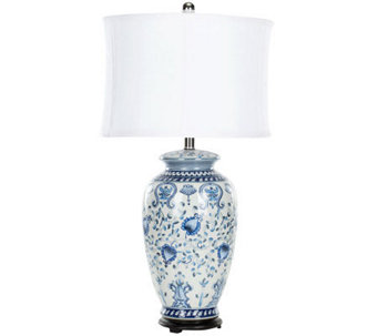 Safavieh Blue and White Table Lamp - H362752