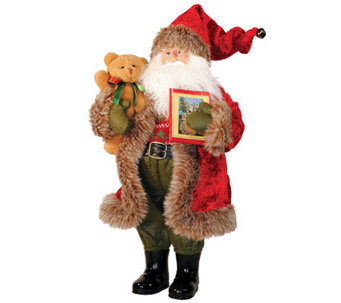 Santa with Teddy Bear by Santa's Workshop - H362952