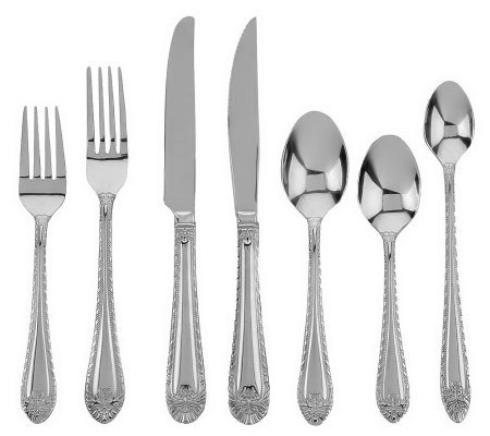 Reed & Barton Stainless Steel 97-Piece Service for 12 Flatware Set