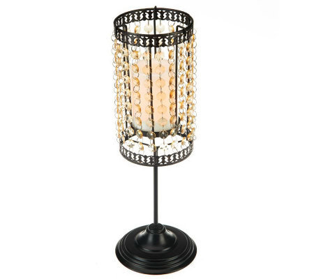 Candle Impressions Convertible Tabletop Beaded Candle Lamp