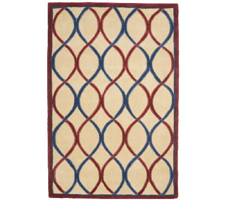 Royal Palace Trellis 4' x 6' Handmade Wool Rug