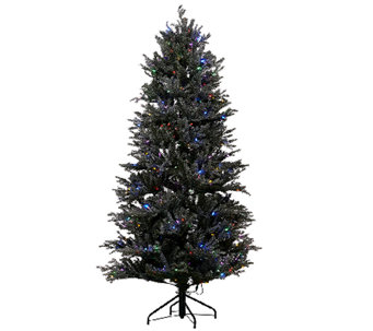 ED On Air Santa's Best 6.5' Snow Drift Fraser Tree by Ellen DeGeneres - H206153