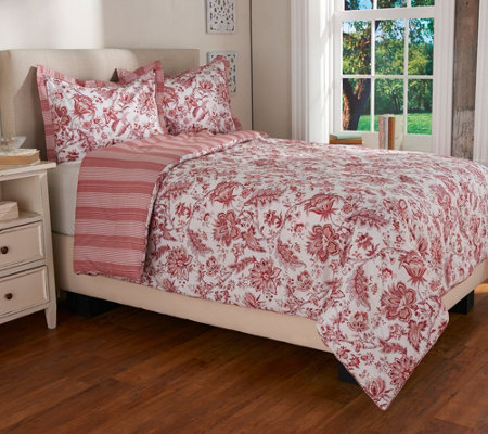 """As Is"" 3 pc. English Countryside Comforter Set by Valerie"